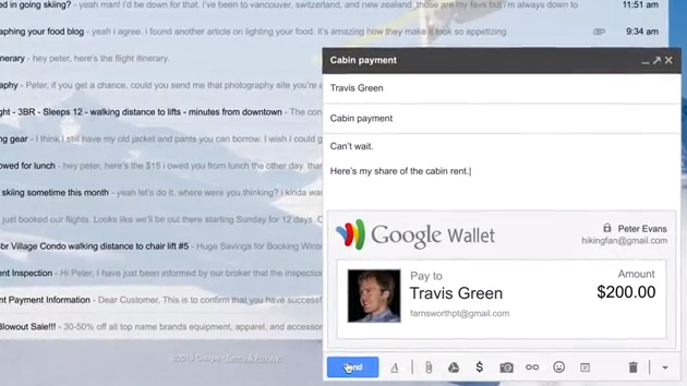 You Can Now E-Mail Your Friends Money Through Gmail