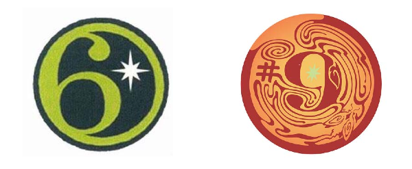 The West Sixth Logo (minus the company name) is on the left; Magic Hat #9 on the right.