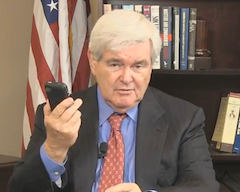 Newt Gingrich Needs Your Help To Name These Newfangled Internet Phones