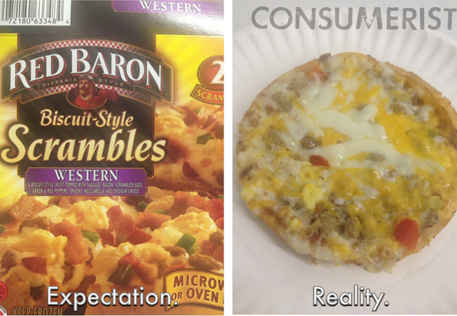 The Reality Of This Red Baron Scramble Is That It Needs A Gallon Of Gravy To Be Edible