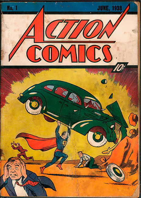 Superman got his start on the pages of Action Comics.