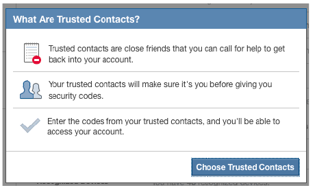 Facebook Lets You Assign 'Trusted Contacts' To Help You Access Your Account After Being Locked Out