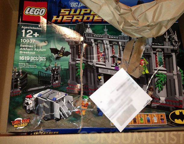 Amazon Sends Pre-Smushed LEGO Set In Intact Box