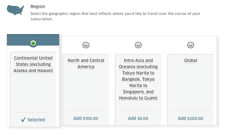 The baggage and Economy Plus subscriptions vary greatly depending on where you plan to travel.