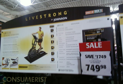 Dick's Sporting Goods Clearing Out All Livestrong Items For Some Reason