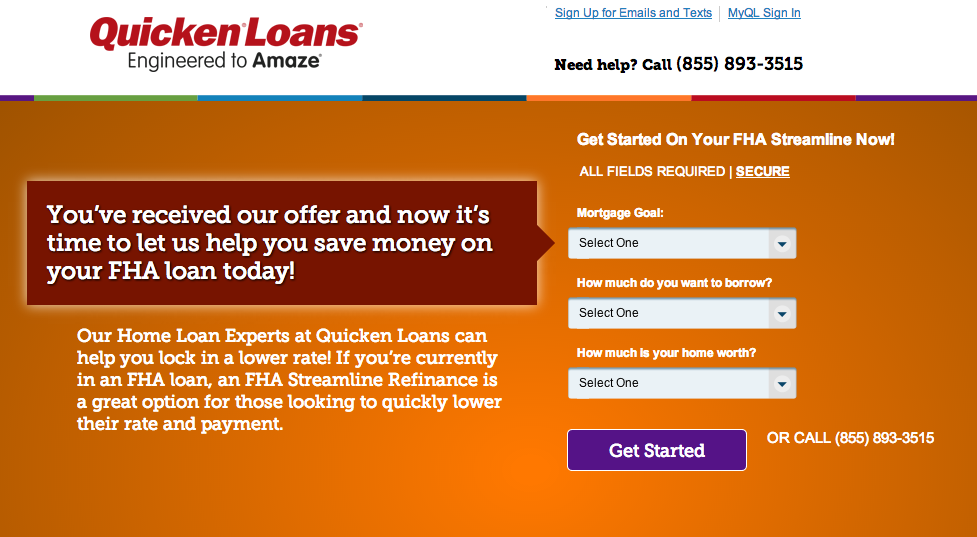 Apply For A Quicken Loans FHA Mortgage: No FHA Products Allowed