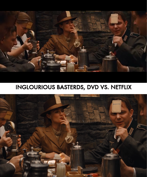 Netflix users in Canada have not been seeing the full widescreen version of Inglourious Basterds.