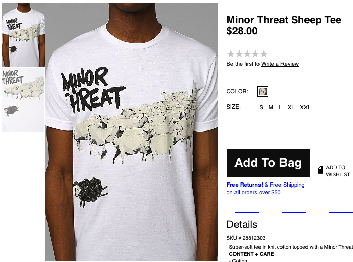 Ian MacKaye OK With Urban Outfitters Selling $28 Minor Threat Shirts; Thinks You're An Idiot If You Buy One