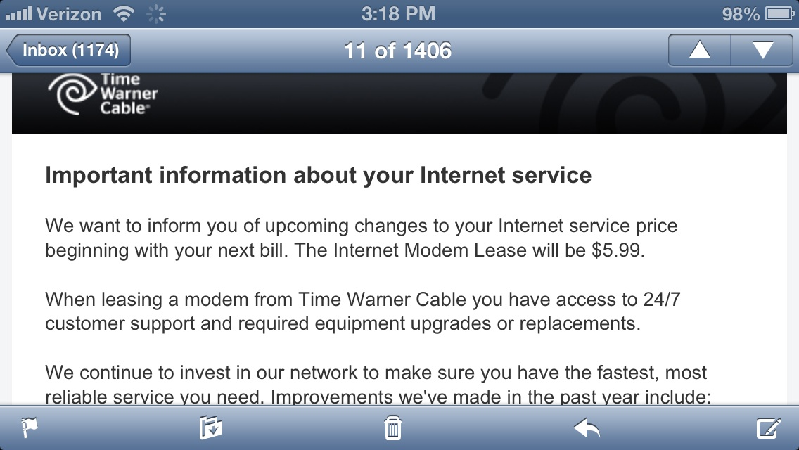 How Do I Access My Time Warner Cable Email: Time Warner Cable Jacking Up Modem Fees u2013 Consumeristrh:consumerist.com,Design