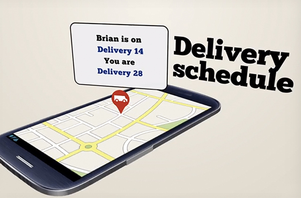 Follow Brian as he makes his way to your door with your order.