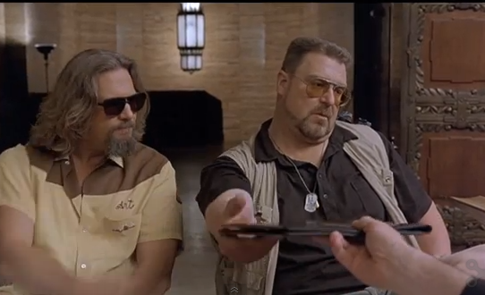 """Just because we're bereaved doesn't make us saps!"" -- Walter Sobchak"