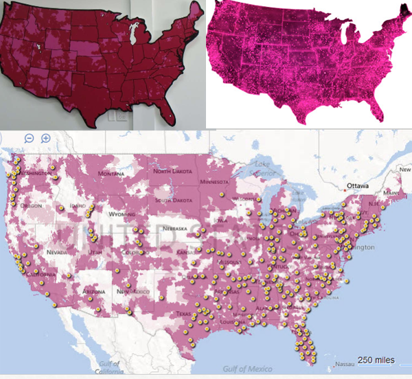 T Mobile Coverage In Mexico Map.T Mobile Wins Legal Battle Against At T Subsidiary Over The Color