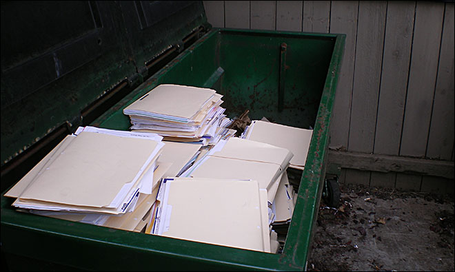 A Sylvan Learning Center in Beaverton, OR, put file folders with customer info -- including credit card and Social Security numbers -- in a dumpster.