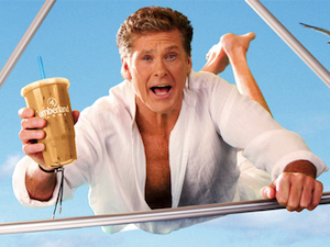 One of The Hoff's high-flying ads.