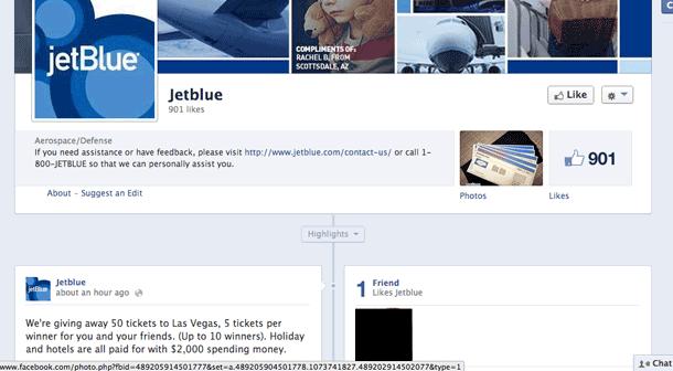 no jetblue is not giving away a vegas vacation via facebook