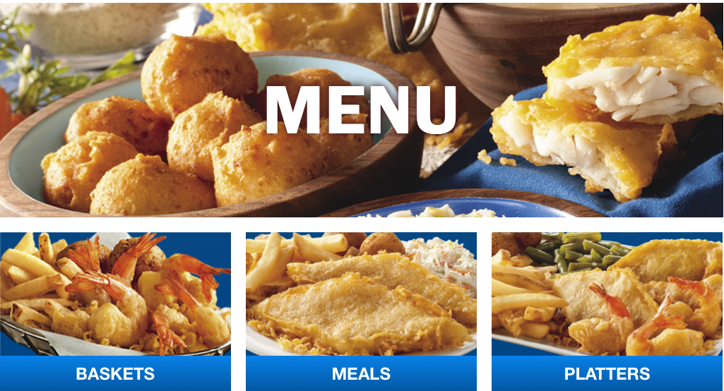 Long John Silver's, where just about everything on the menu has that same golden-brown color.