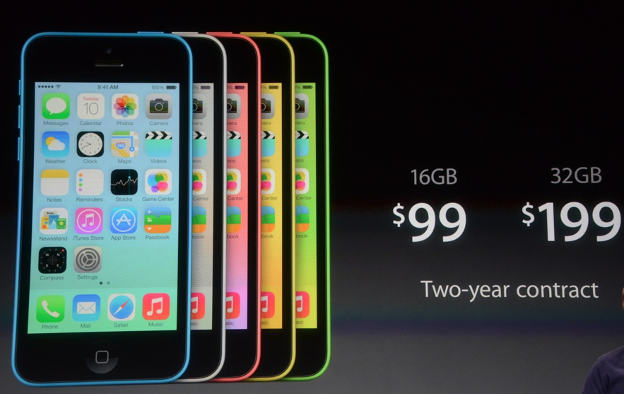 The iPhone 5C was one of two new iPhones announced today.
