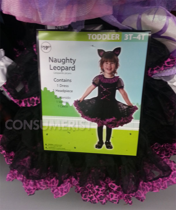 "In 2013, Walmart had to remove this ""Naughty Leopard"" costume from its stores because... well, it's pretty self-evident why."