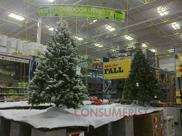 Lowes Christmas.Lowe S Idea Of Fall Essentials Christmas Trees Consumerist