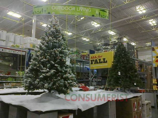 Lowe's Idea Of Fall Essentials: Christmas Trees