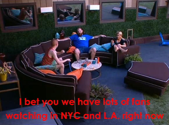 Millions of people in L.A., Dallas, and NYC were not able to watch the residents of the Big Brother house sit around and do absolutely nothing.