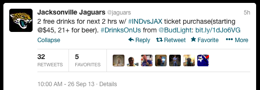 Jacksonville Jaguars Offer Free Beer To Anyone Willing To Buy Tickets