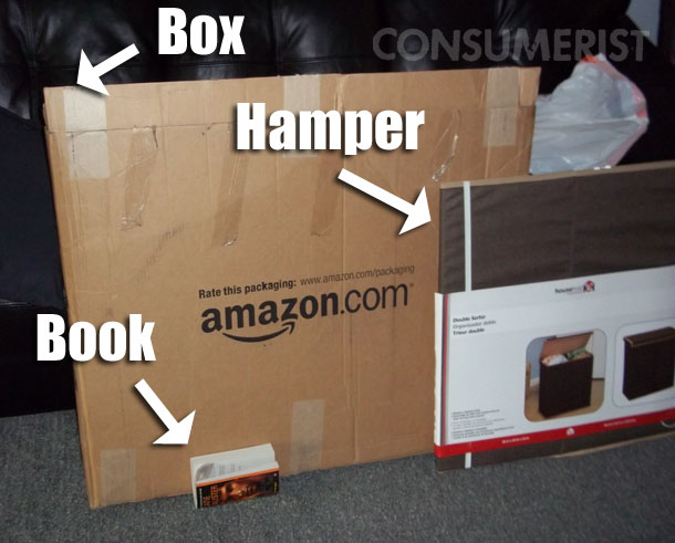Amazon Sells Hamper And Book, Tosses Them In Single Huge Box