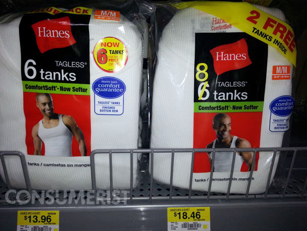 Hanes Throws In 2 Undershirts For Free, Charges More For Them