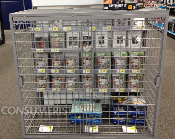 Grand Theft Auto Display At Best Buy Prevents Smaller Thefts Of Video Games