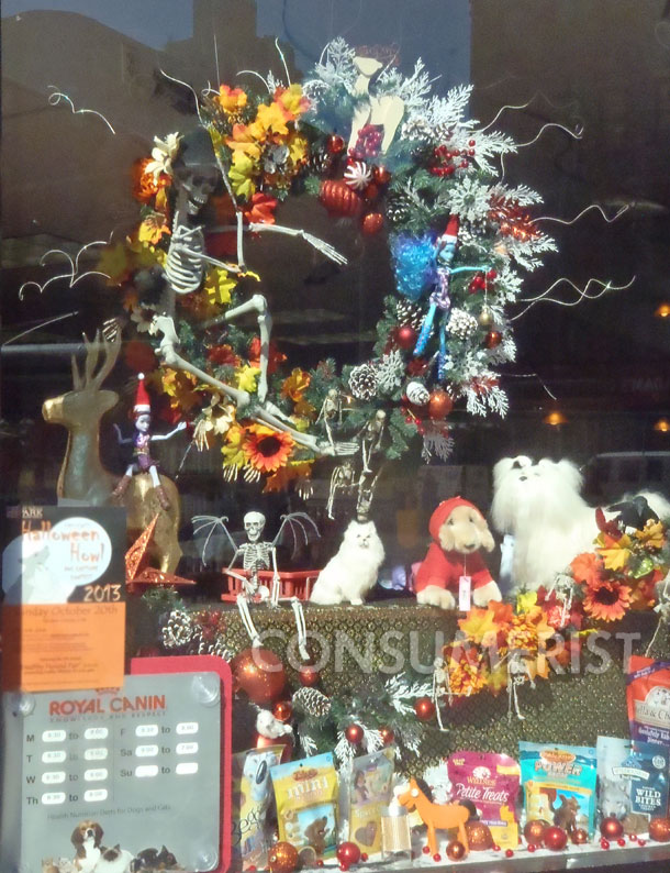 Even We Grudgingly Admire This Christmas/Halloween Mashup Wreath