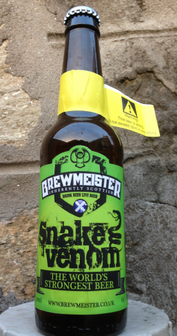 The makers of Snake Venom say they tried too hard to mask the taste of the alcohol in their previous 60% beer, so they went full-on with Snake Venom.