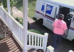 Mail Carrier Decides The Best Way To Get To Customer's Door Is To Drive Over The Front Yard
