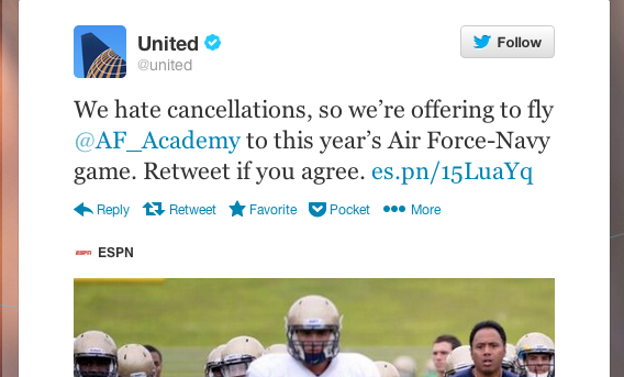 If only United responded this way to every traveler stranded by a cancellation.
