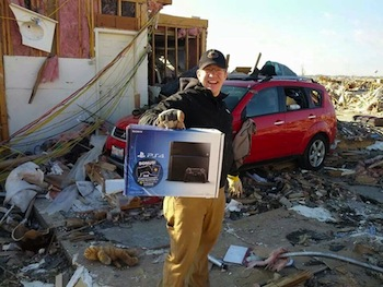 When Tornado Takes Your House But Leaves Your PS4, You've Just Gotta Smile