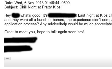 Fulfilling That 'Banker Bro' Stereotype In Job-Hunting E-mails Is A Bad Idea