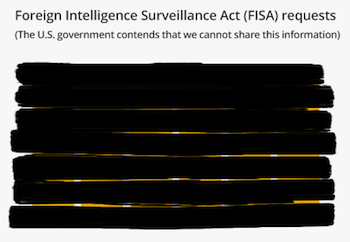 In a transparency report from last year, Google thumbed its nose at the federal laws that limit what can be said about national security requests.