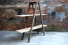 "You Could Pay $395 For An ""Upcycled Shelving Unit"" Or Just Find A Ladder & Stick Boards On It"