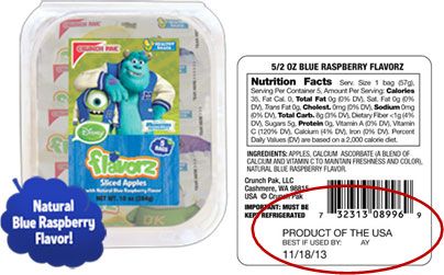Natural blue raspberry flavoring....wait, what?