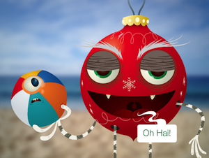 The Christmas Creep often shows up during beach season and makes us cranky.