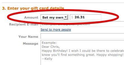 Split Your Amazon Transaction And Use Up That Old Visa Gift Card