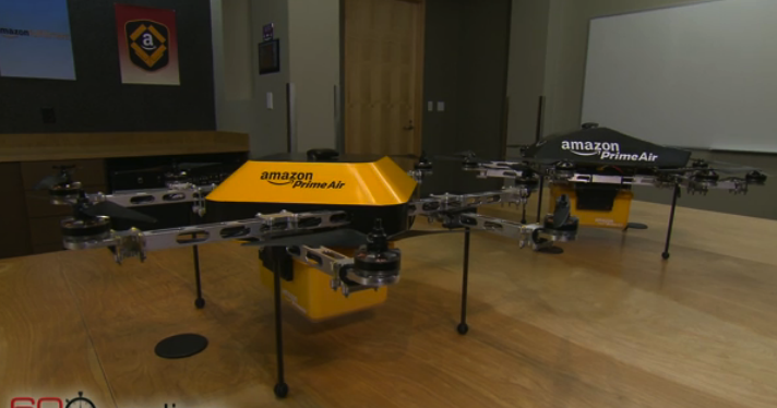 This is the drone Amazon showed off last night, but we think there are better ideas.