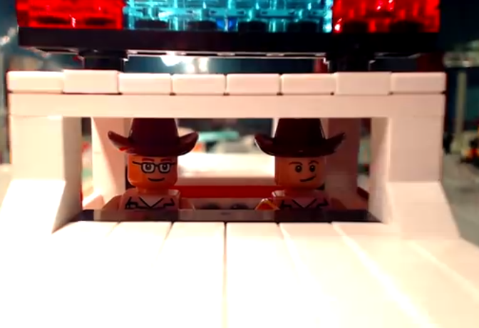Someone Made A LEGO Version Of The Blues Brothers Mall Chase Scene. It Is Glorious