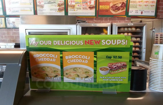 At Subway You Can Have Any Soup As Long As It S Broccoli