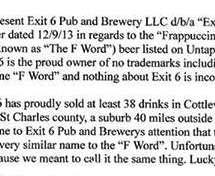 "Brewpub Shows Starbucks ""The F Word"" After Legal Demand To Stop Selling ""Frappicino"" Beer"