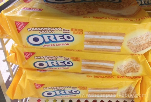 "Now On Shelves: Cookie Dough And ""Marshmallow Crispy"" Flavored Oreos"