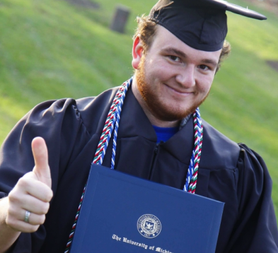 College Senior Hopes To Pay Off Student Loans By Selling Ads On Graduation Cap