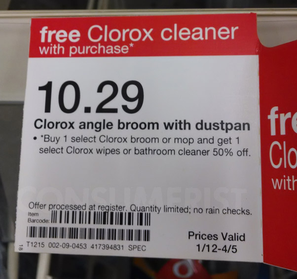 Target Clarifies Confusing Sign: Cleaning Products Are 50% Off, Not Free