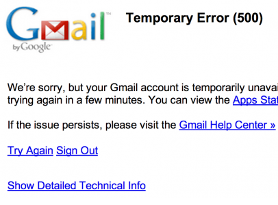 Gmail Goes Down, World Wishes It Could Just Go Home Already