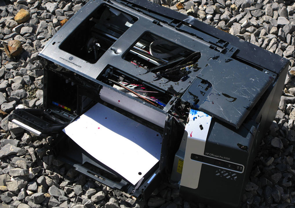 This is not the actual printer involved in the incident, but we're guessing it's probably what that printer looks like after all that tossing around in the Walmart. (photo: Gabrieel)