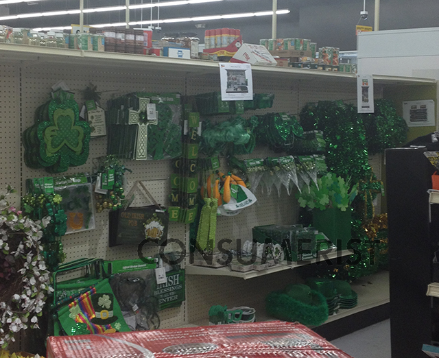The Wearing Of The Green Starts Two Months Before St. Patrick's Day At Big Lots